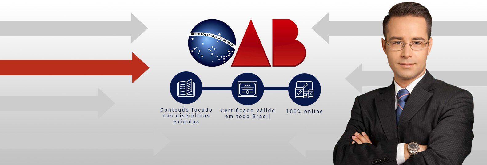 Seleção de cursos para estudar para OAB.
